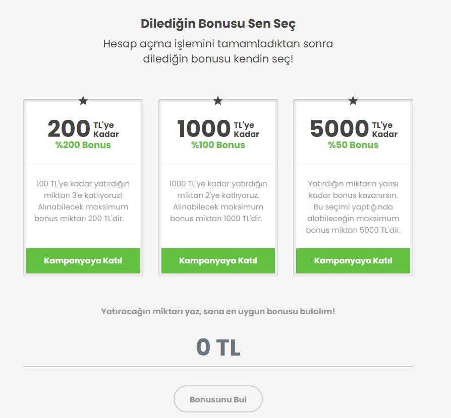 Bets10 Hoş Geldin Bonusu 5000 TL
